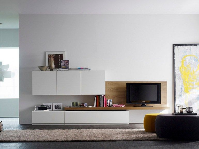 Lacquered TV Wall System VERSO Verso Collection By TREKU | Design TARTE