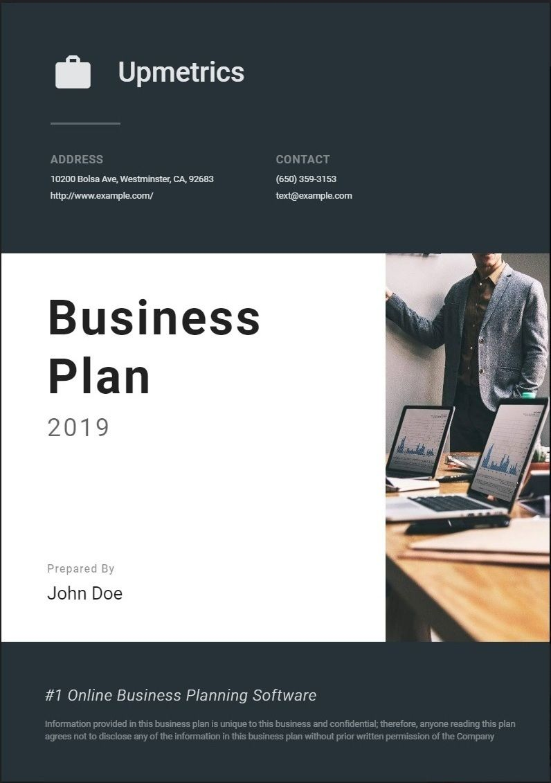 Business Plan Cover Page How to plan, Business plan