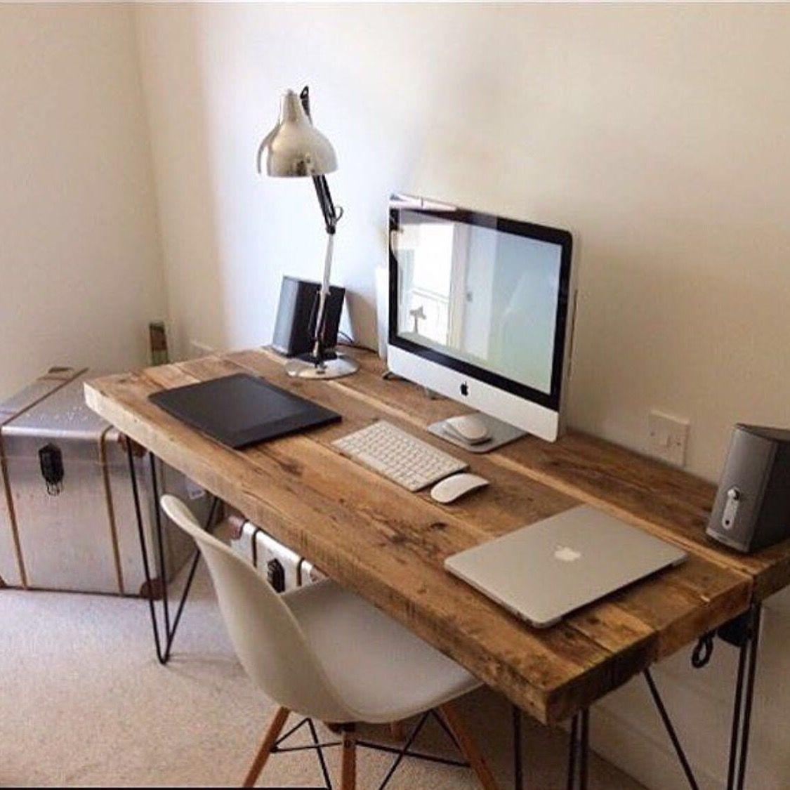 Office table | Wood | Pinterest | Schreibtische, Schreibtisch bauen ...