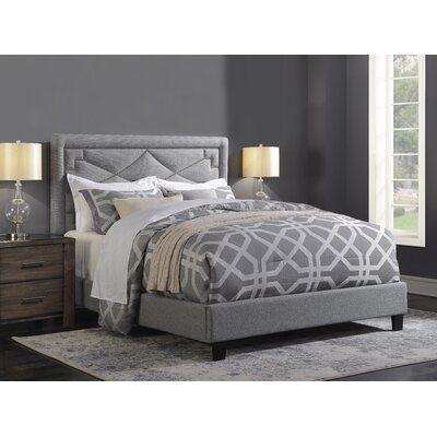 Mercer41 Wolter Diamond Standard Queen Upholstered Bed Upholstered Beds Upholstered Queen Bed Frame Upholstered