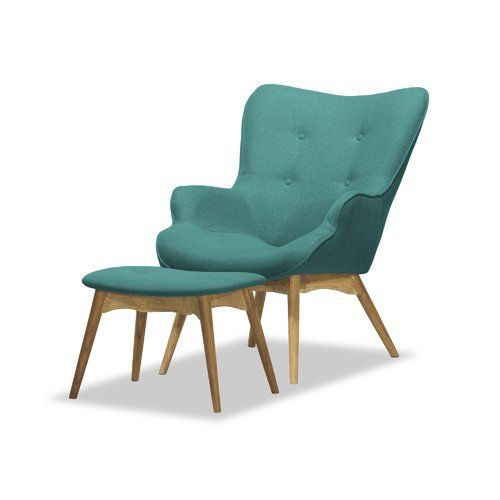 Swell Blick Ducon Lounge Chair And Footstool Milja Upholstery Gmtry Best Dining Table And Chair Ideas Images Gmtryco
