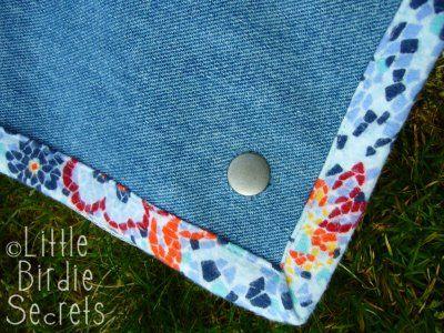 Little Birdie Secrets: denim picnic blanket quilt-along - part 4