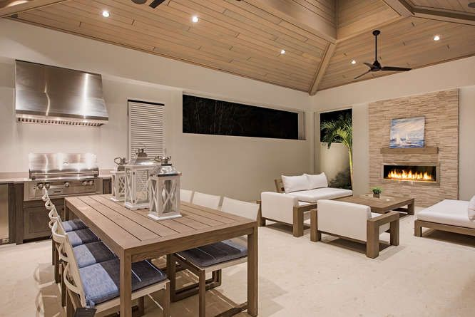 Outdoor Kitchen And Fireplace Naples Fl Home Builders Custom Home Builders Home