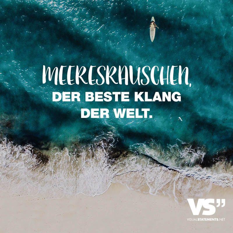 Visual Statements®️ Meeresrauschen, der beste Klang der Welt. Sprüche / Zitate / Quotes / Leben / Freundschaft / Beziehung / Liebe / Familie / tiefgründig / lustig / schön / nachdenken