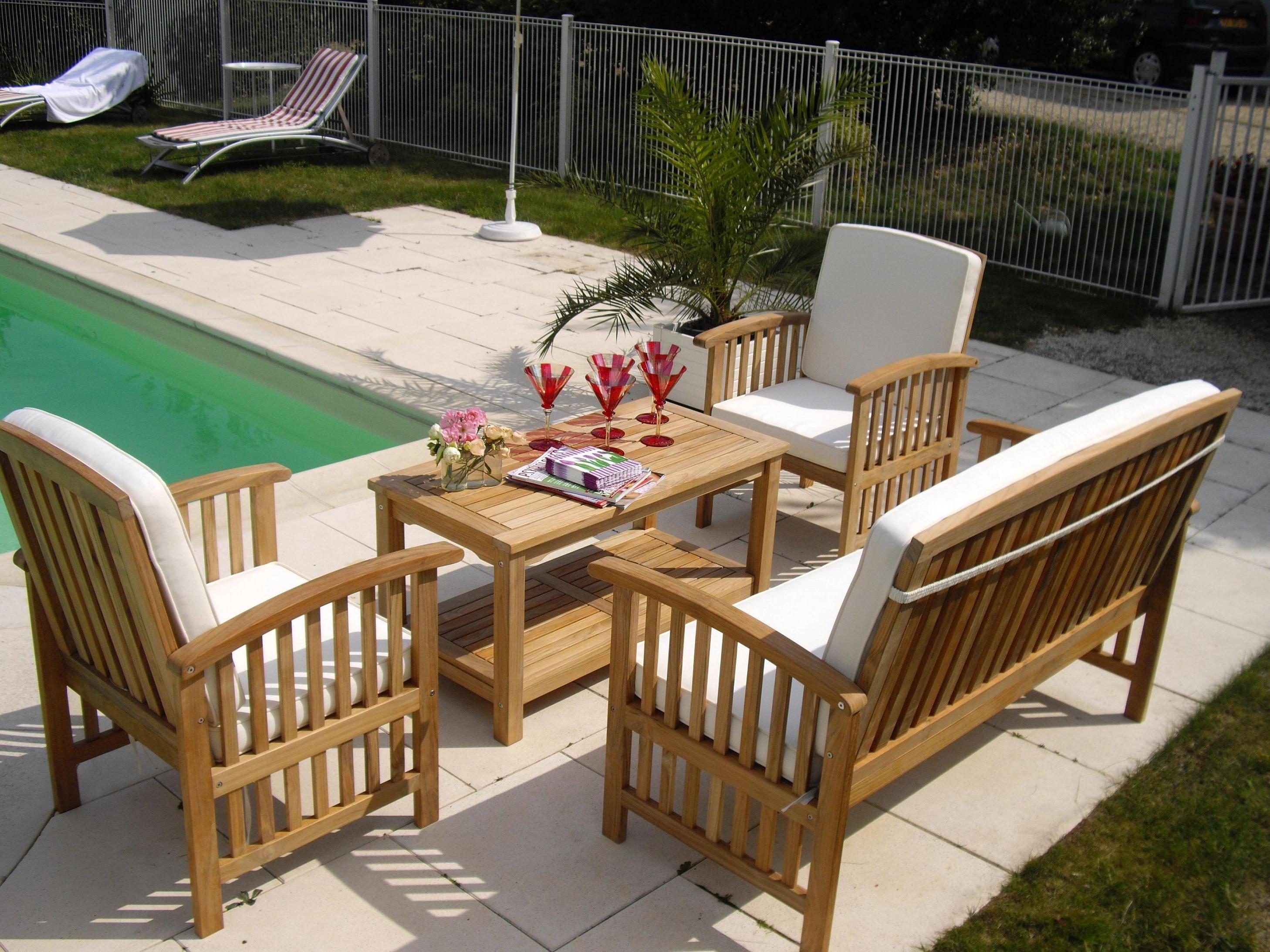 impressionnant salon de jardin en teck en promotion | Notre ...