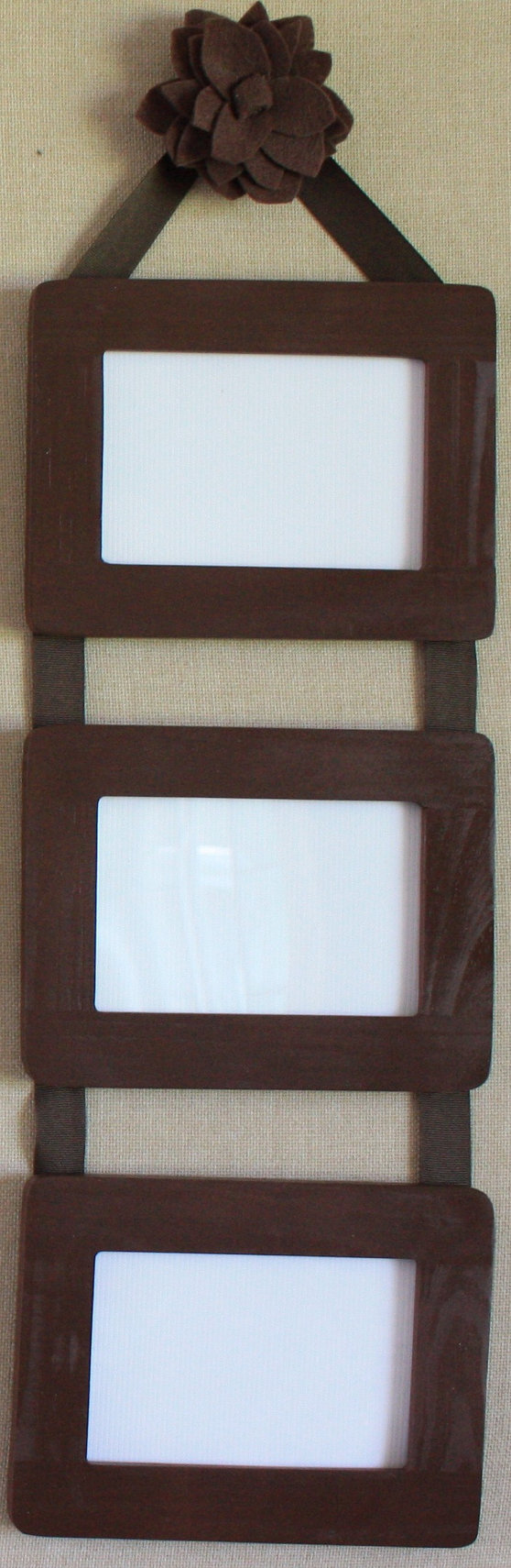 Ribbon Hanging Picture Frames / Set of 3 by LisaMarieAccessories ...