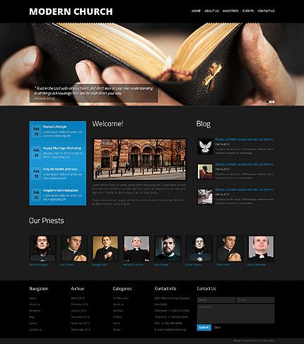 Template Church Religious Website Template Church - Church website templates