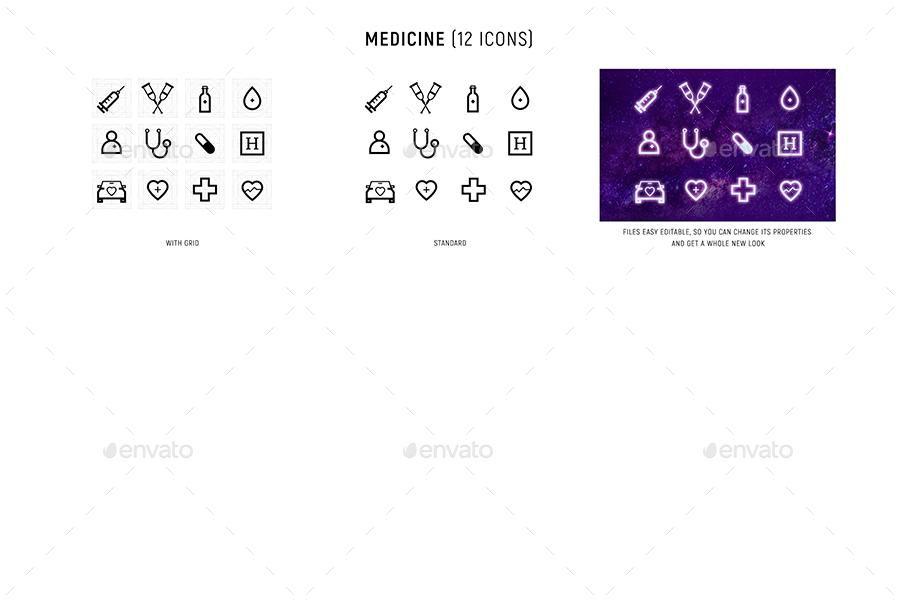 80s Icon set AD Icon, sponsored, set in 2020 Icon