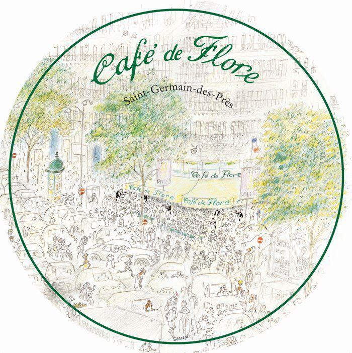 Le Cafe De Flore Vu Par Sempe Cafe De Flore Cafe De Flore