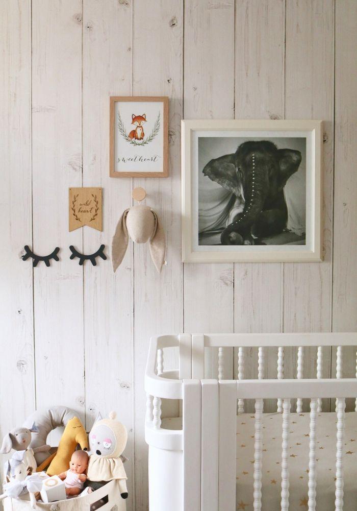 Bois papier peint trompe l 39 oeil chambre b b the baby - Papier peint trompe l oeil pour chambre adulte ...