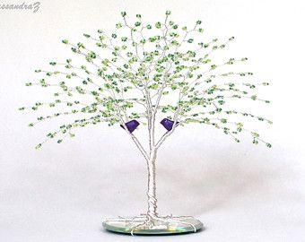 Custom Color Wire Tree Wedding Cake Topper When Two By Trees2art Wedding Cake Tree Tree Wedding Birch Tree Wedding