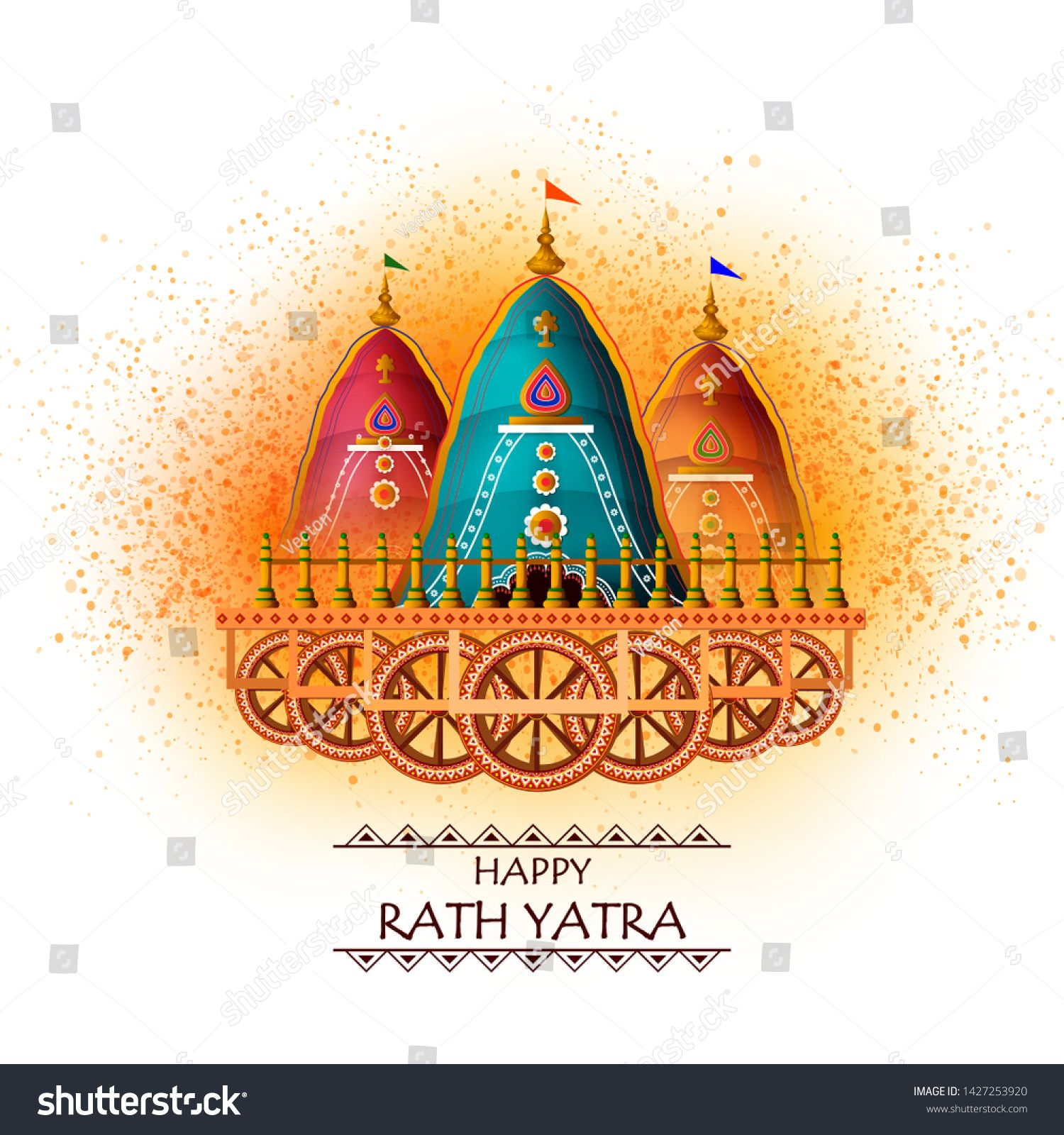 Happy Rath Yatra Holiday Background Celebration For Lord Jagannath