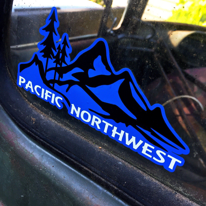 Pnw Decal Pnw Pnw Sticker Mountain Decal Washington Decal Oregon Decal Idaho Decal Wonderlust Decal Mountain Decal Vinyl Decals Vinyl Colors [ 2448 x 2448 Pixel ]
