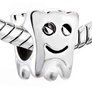 feb4723f3 .925 Sterling Silver Smiling Tooth Dentist Pandora Style Bead Charm - All  Things Luxury .