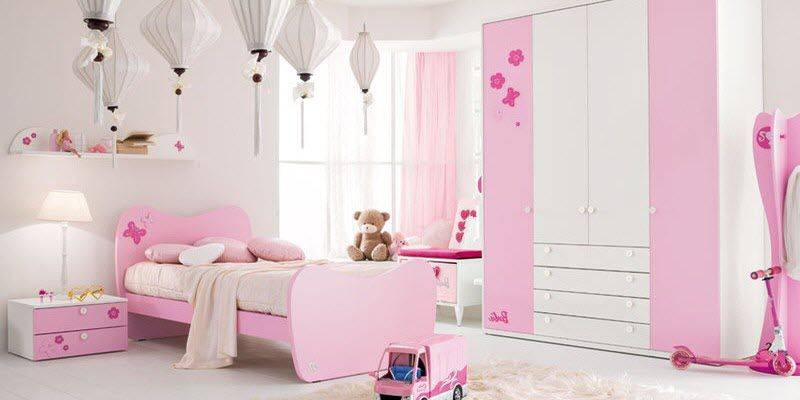 d co chambre fillette rose et mauve photos d co de. Black Bedroom Furniture Sets. Home Design Ideas