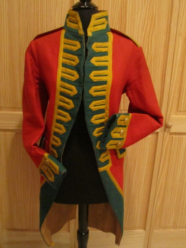 Antique Colonial Revolutionary War Soldier Jacket Costume Red ...