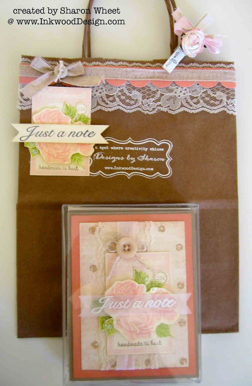 card set, with matching gift bag