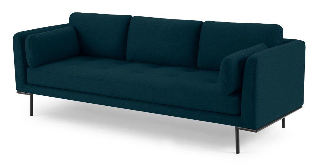 Harlow 3 Seater Sofa Elite Teal 3 Sitzer Sofa Sofa Blaugrun