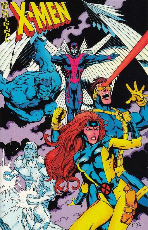 The Original X Men Pinup By Gary Frank Cam Smith From X Men Unlimited 6 Sep Comic Book Related Awesomeness X Men Comics Marvel Comics