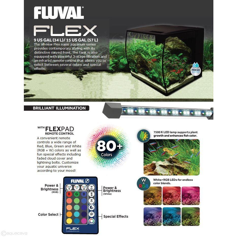 Fluval FLEX 57L Aquarium Kit, 15 gallon - Black   aquarium