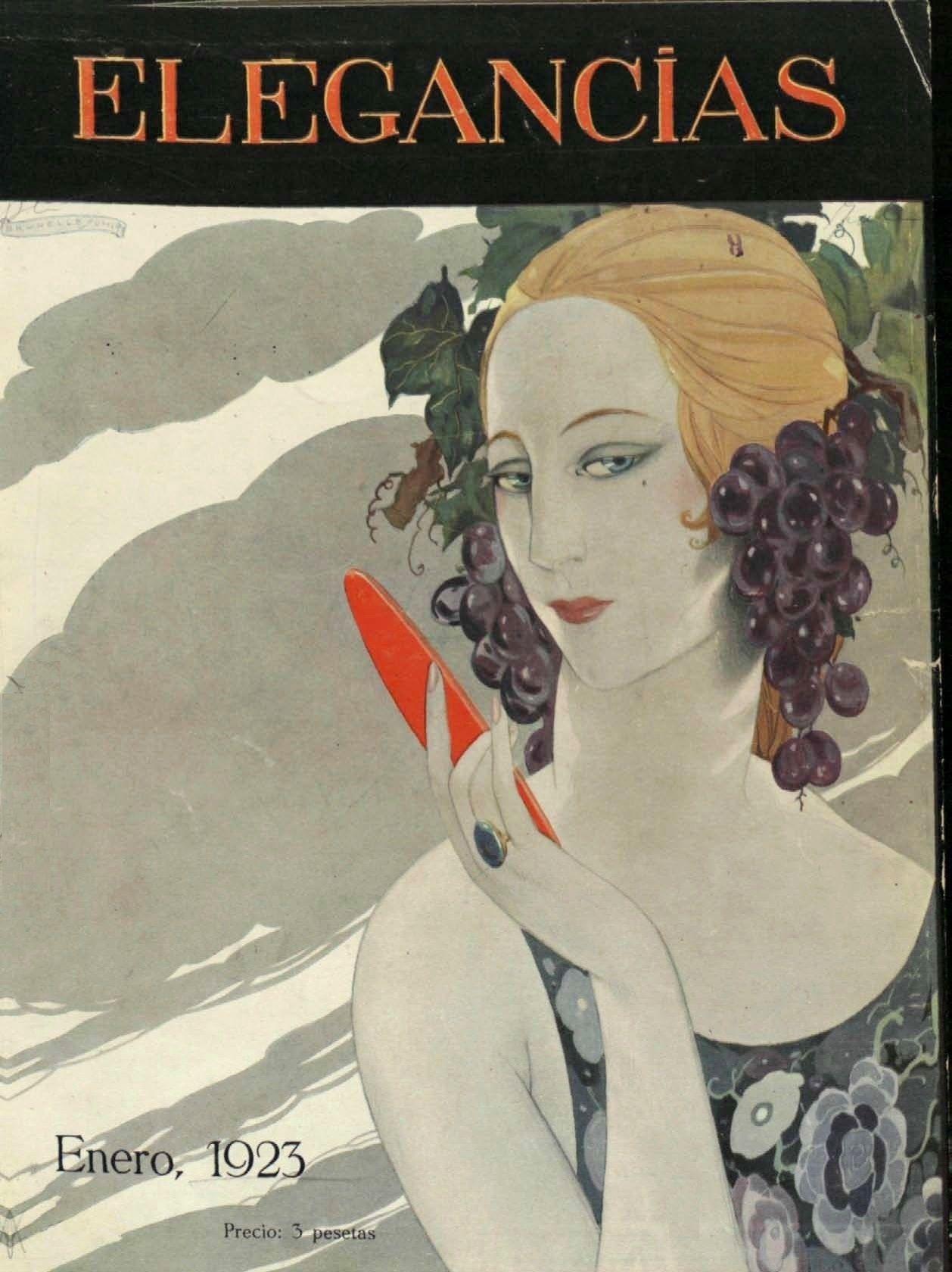 Elegancias (Madrid) - 1923 - Portada de Brunelleschi