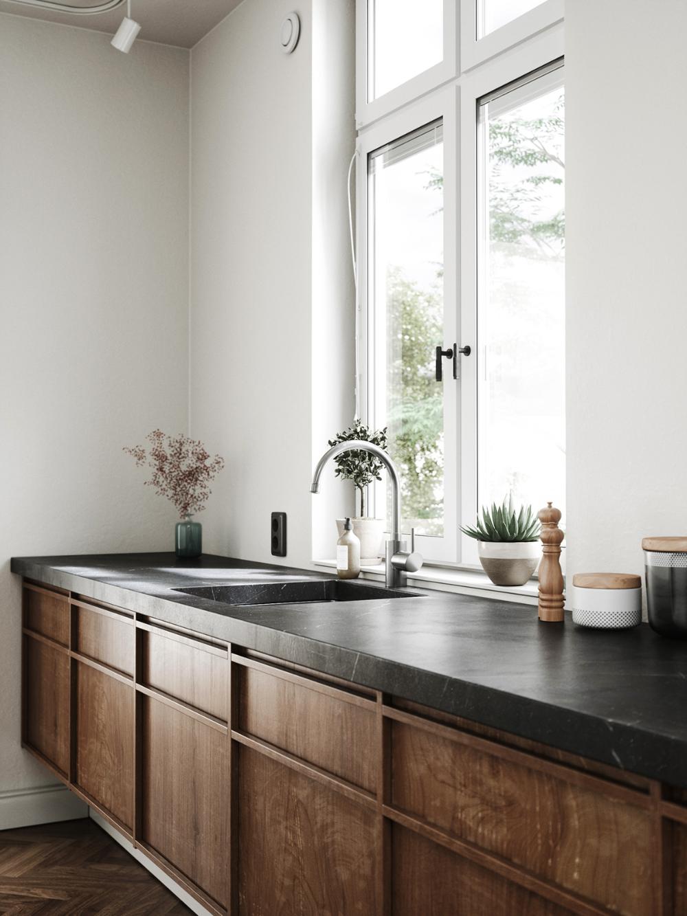 Kitchen set CGI on Behance