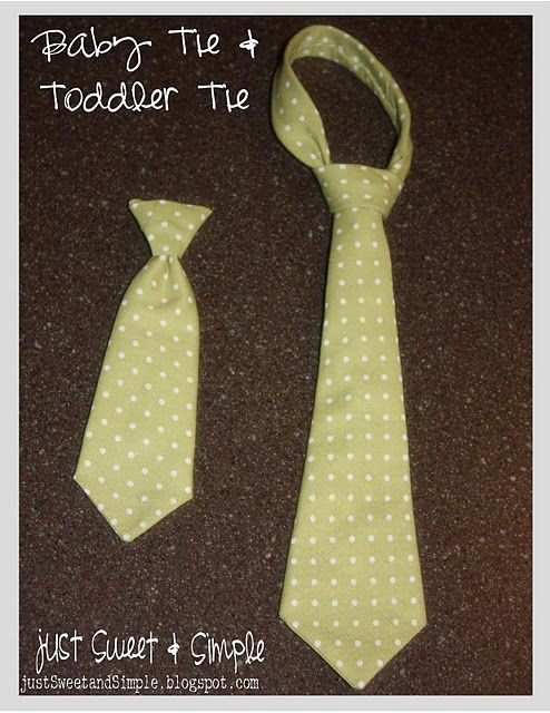 Homemade Toddler Tie