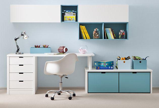 mesas y escritorios para habitaciones juveniles de muebles ...