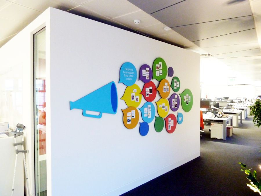 Beau A Bespoke Magnetic Tweet Wall Designed To Be A Decorative Piece Within The  Office And To