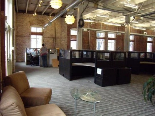 open floor plan office Google Search Workplace design