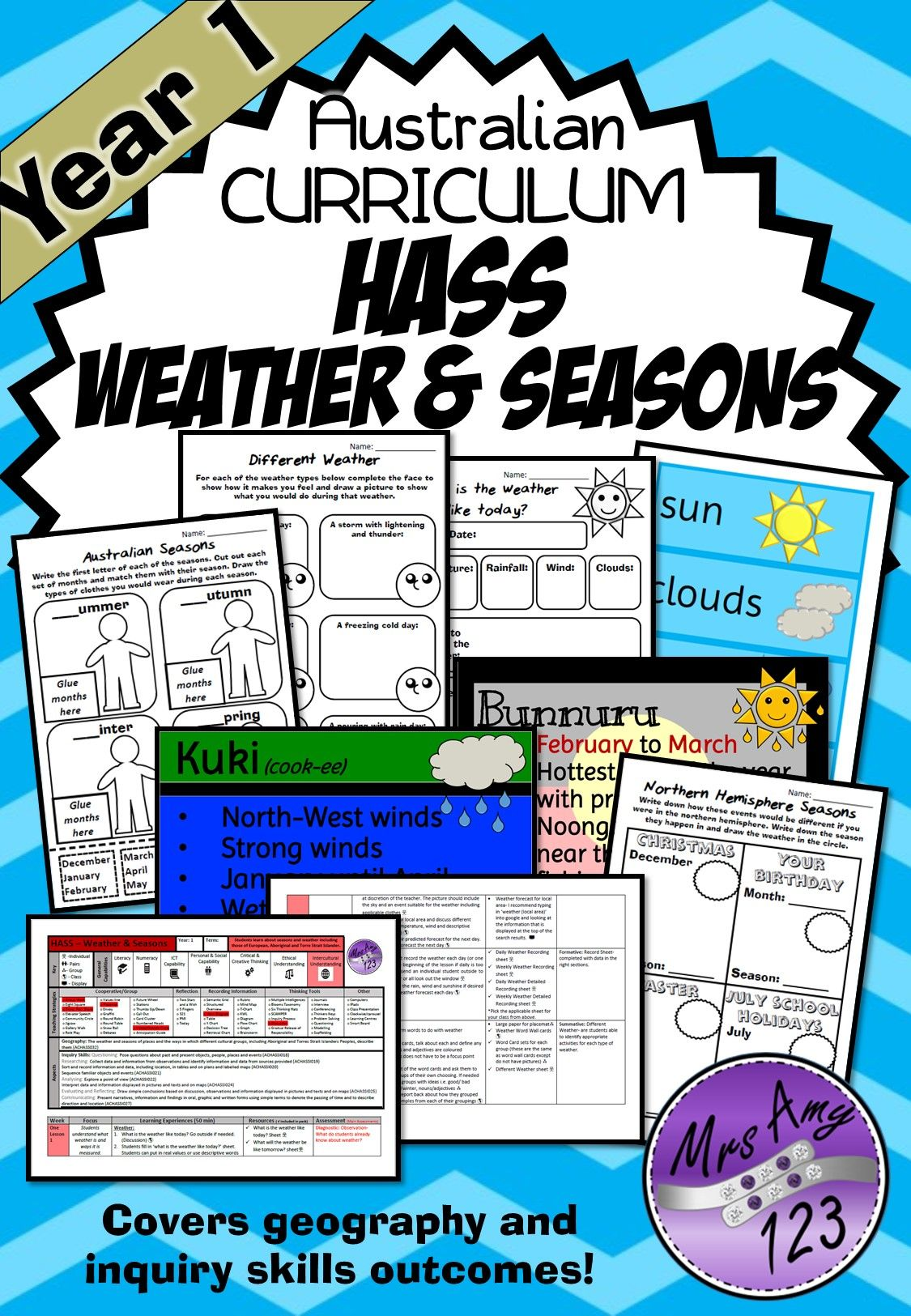 Year 1 Hass Seasons And Weather Unit Geography