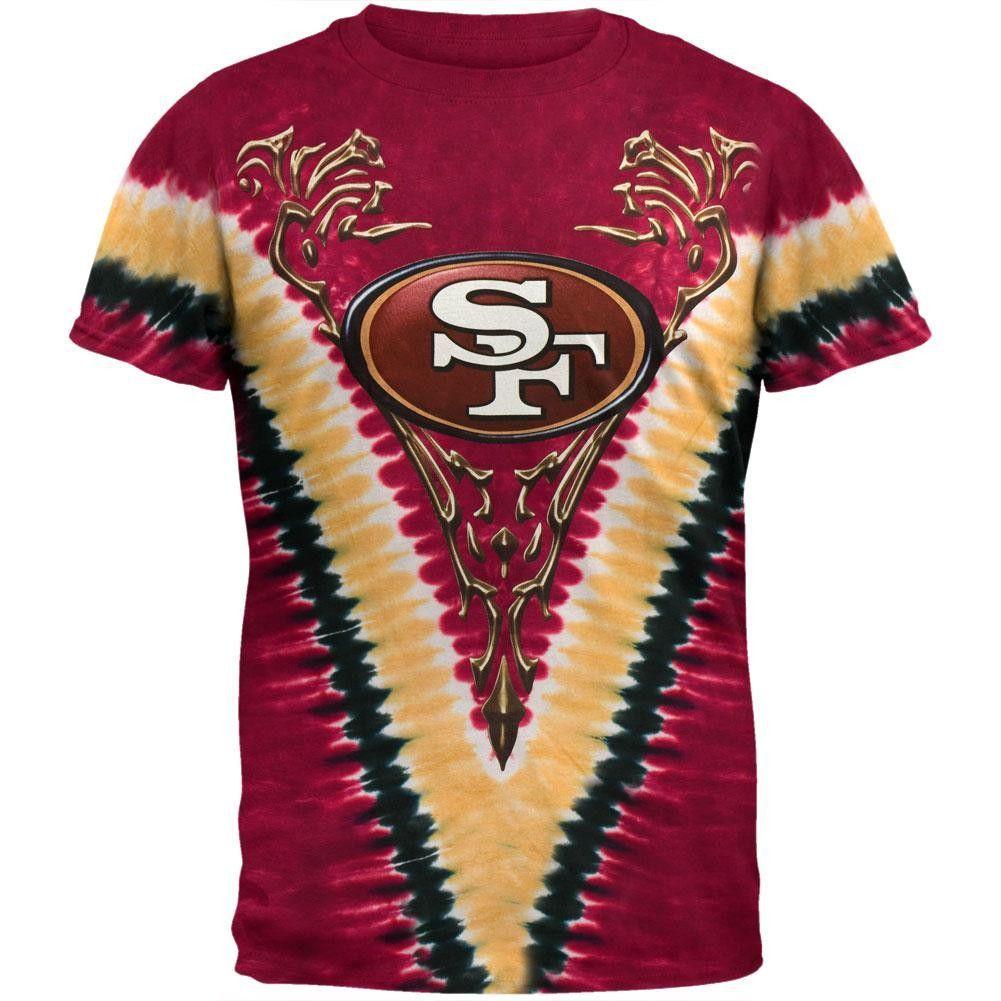 b500bf797fec San Francisco 49ers - Logo V-Dye Tie Dye T-Shirt