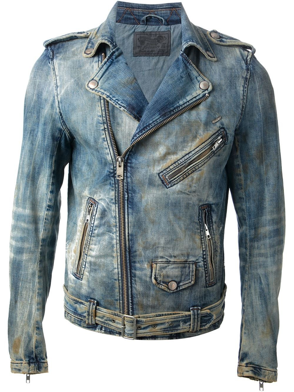 diesel denim Google Search Leather jacket men, Diesel