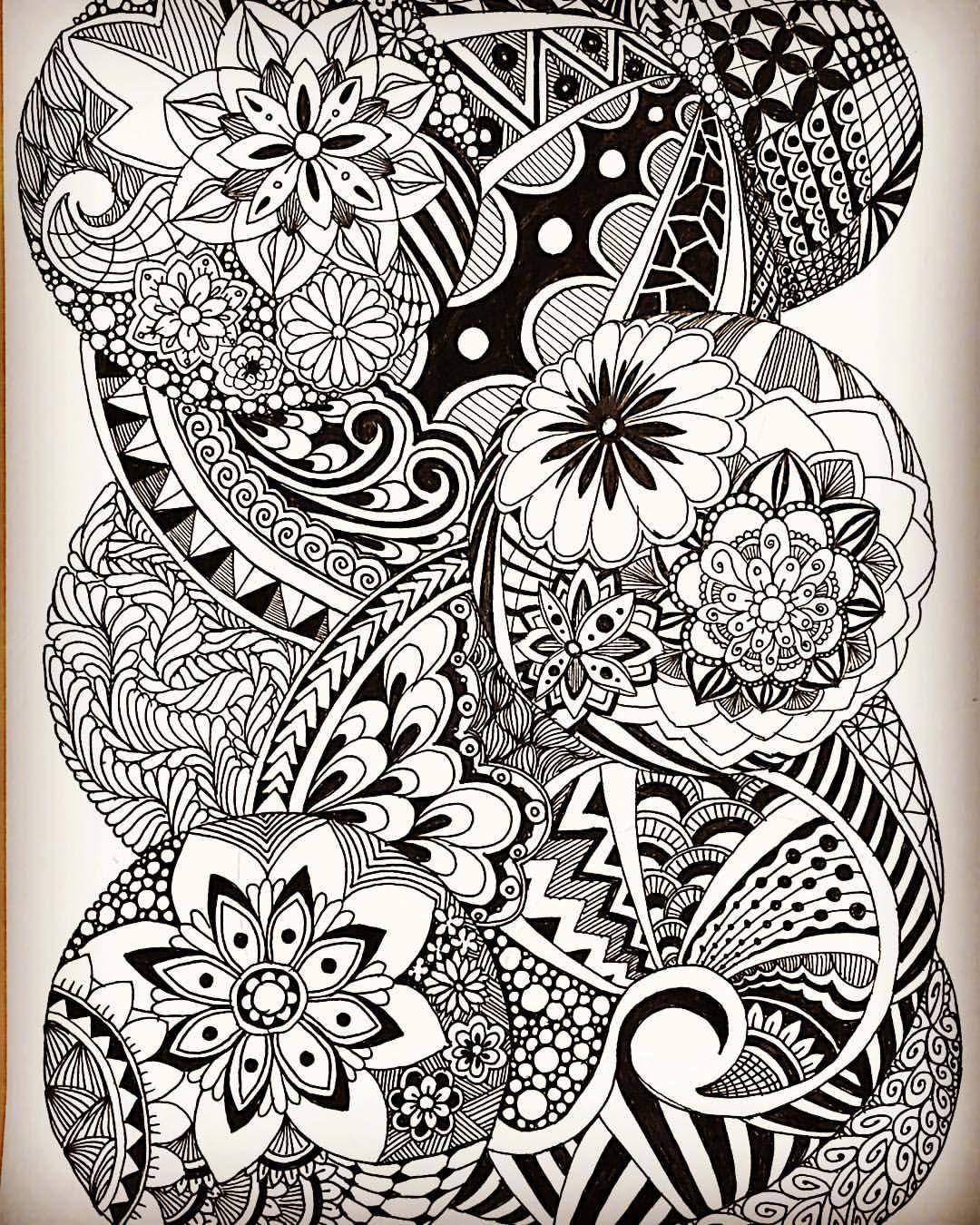 Malvorlagen, Zentangle Muster, Malen Und Zeichnen