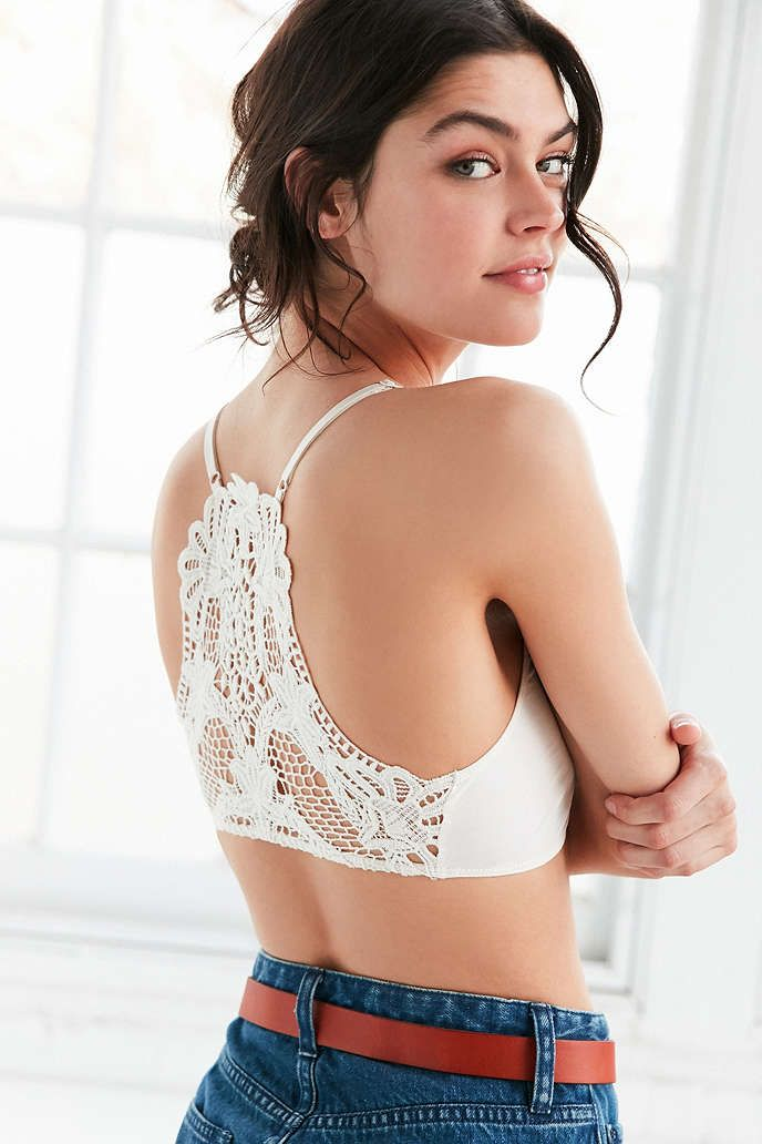 9215ec037b Out From Under Ruched Crochet Bra - Urban Outfitters