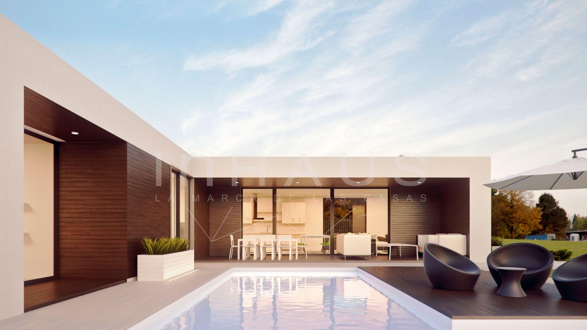 Casa prefabricada minimalista inhaus modelo motril vista for Viviendas minimalistas
