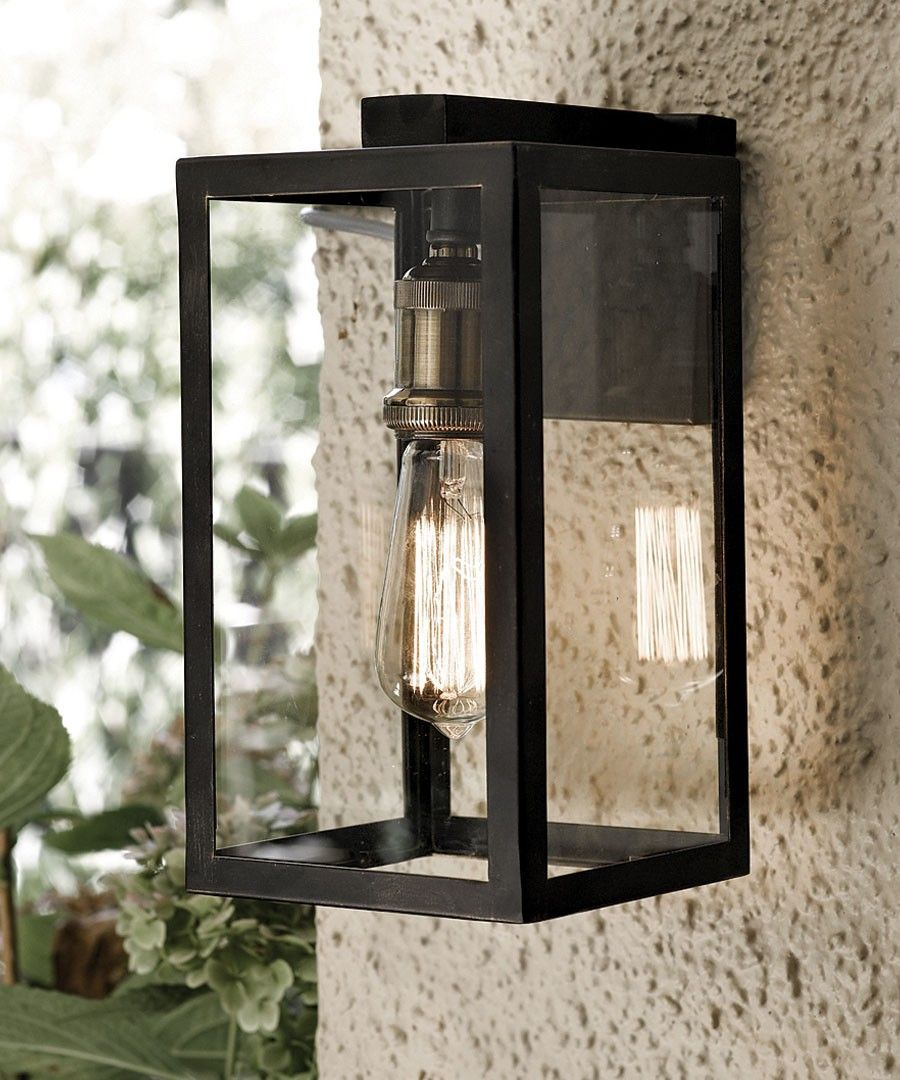 Exterior Lighting: Southampton 1 Light Small Wall Bracket In Antique Black