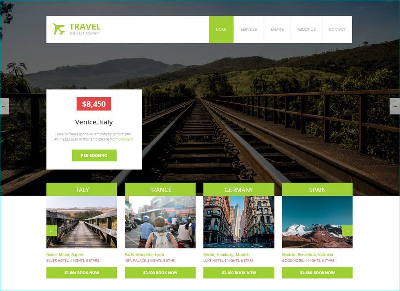 Website Templates Free 14 Free Travel Website Templates  Free Travel Website Templates