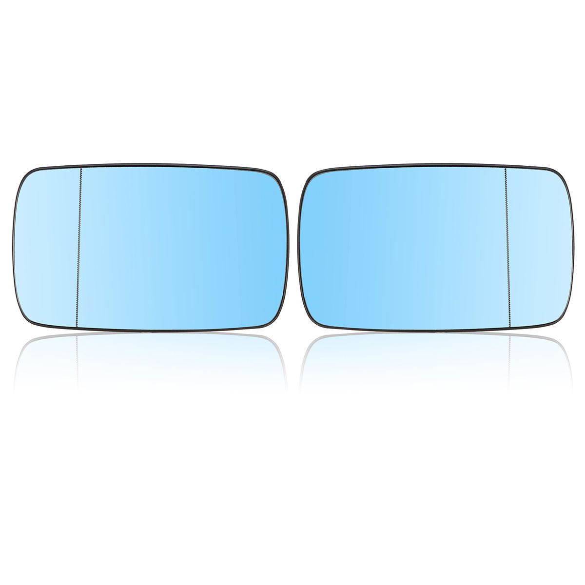Mirror Glass Front Right Passenger Side Blue for BMW 3 Series E46 5 Series E39