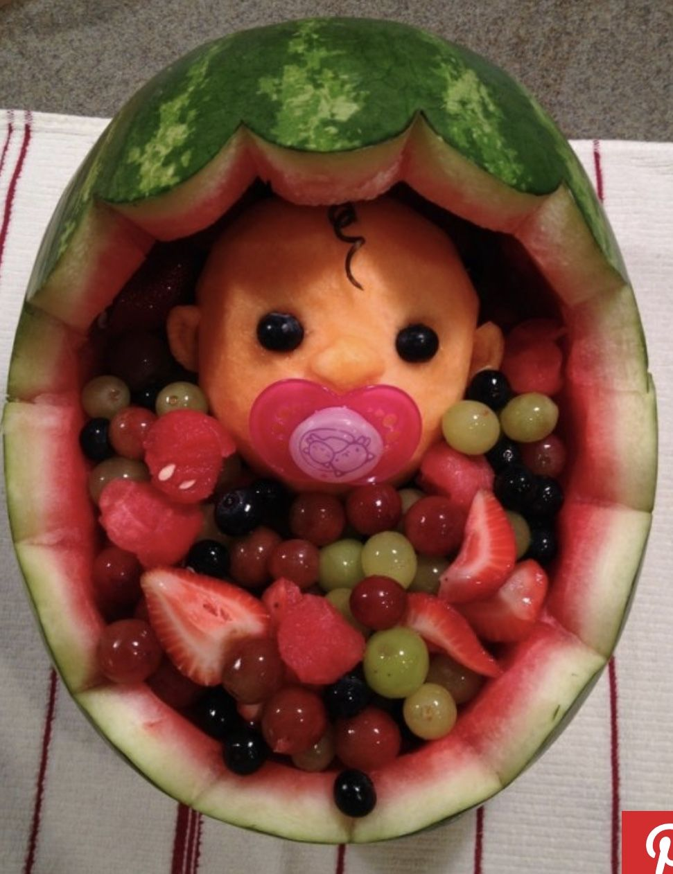 Baby Shower Watermelon Carving : shower, watermelon, carving, Johanna, Fonseca, Shower, Watermelon,, Watermelon, Carving,, Party