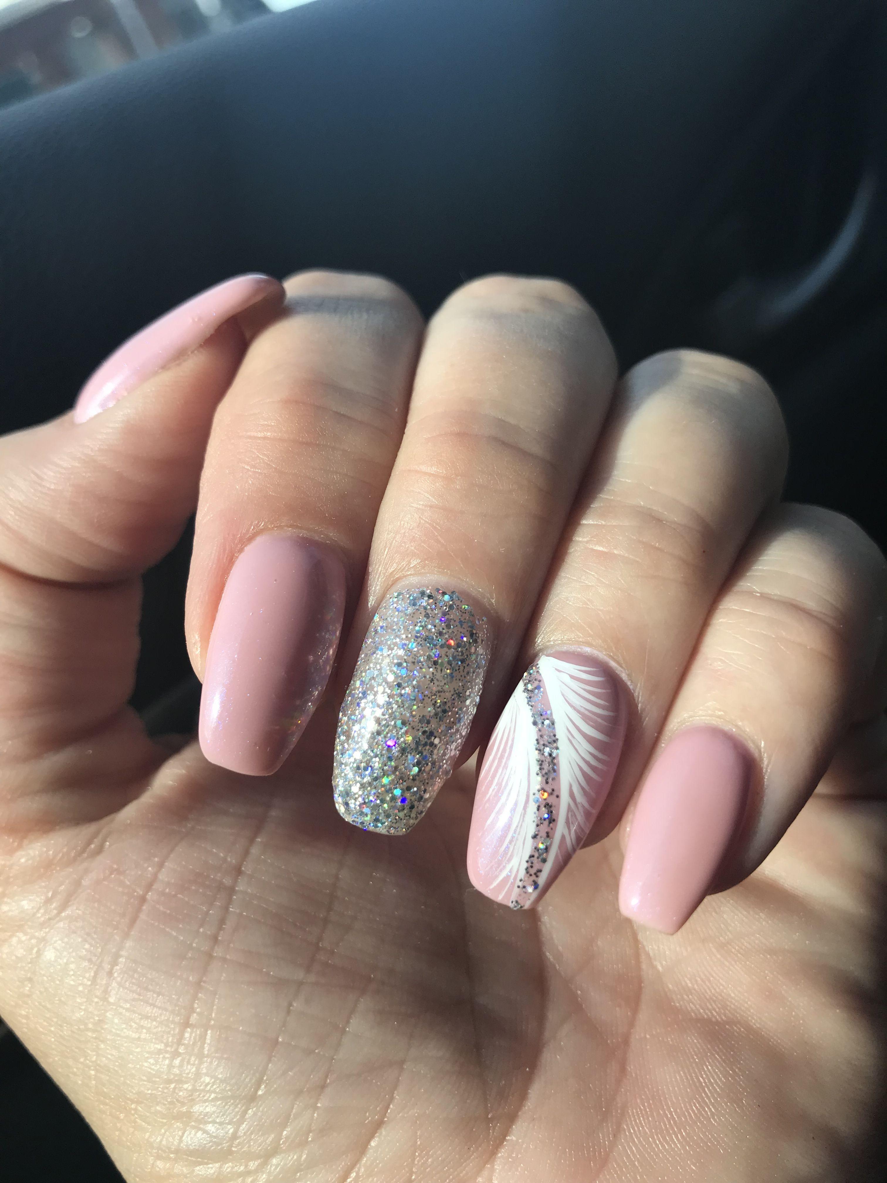 Summer 2018 Nail Design Coffin Shaped Uv Gel Nails Gel Nail Extensions Uv Gel Nails Glitter Gel Nails