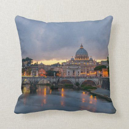 Ponte Sant 39 Angelo Rome Italy Throw Pillow Decorative Throw Pillows Throw Pillows Pillows