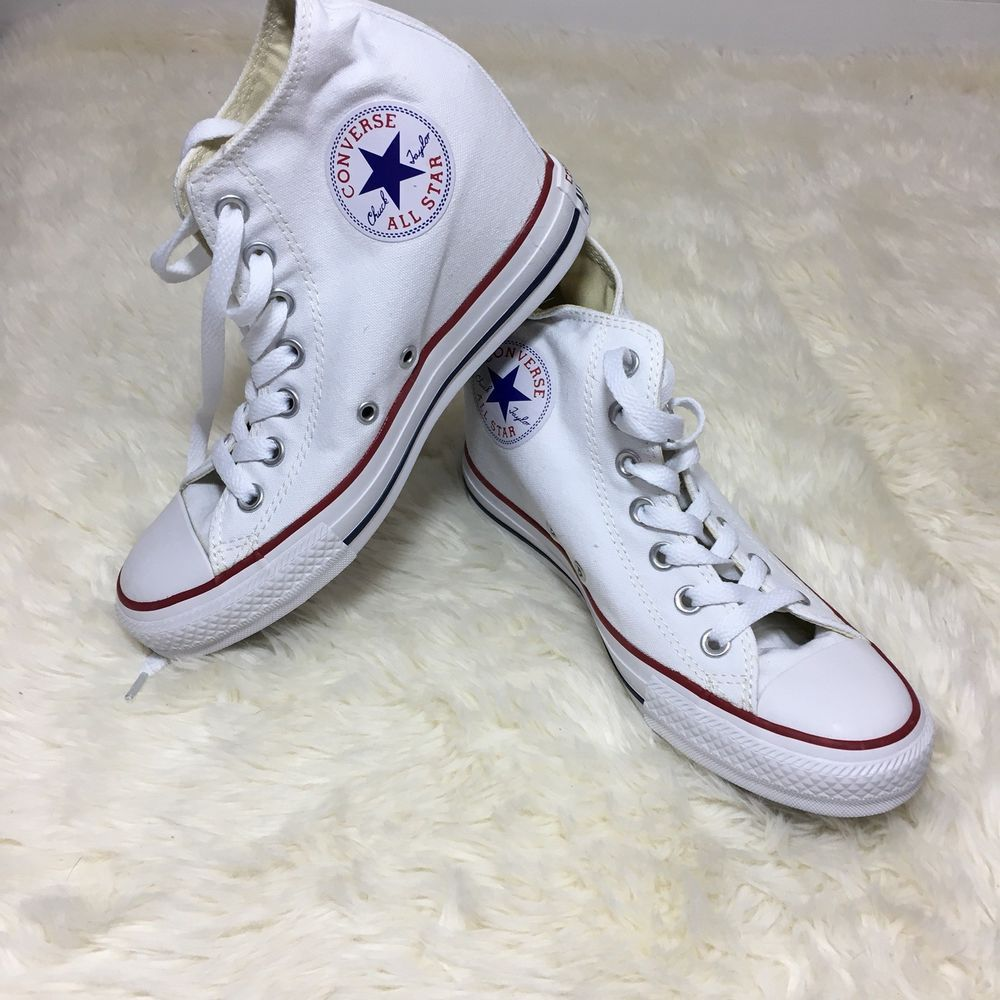 90545a319a0f Converse Women s All Star wedge high top tennis shoes Size 8 White ...
