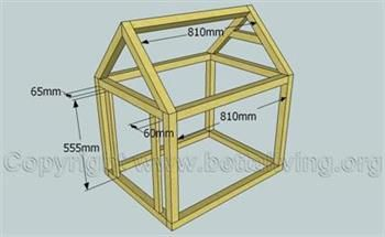 Complete Dog Kennel Frame Outdoor Projects Pinterest Dogs - Dog-house-frame