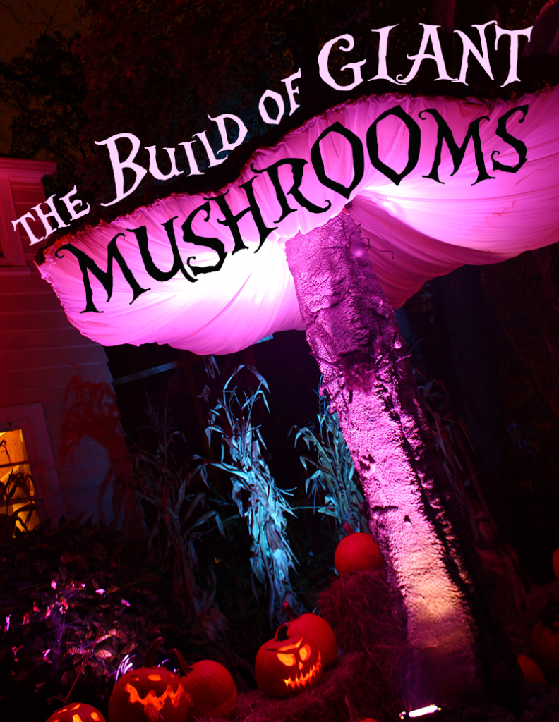 The Build of Giant Mushrooms Alice in Wonderland Props   Alice in ...