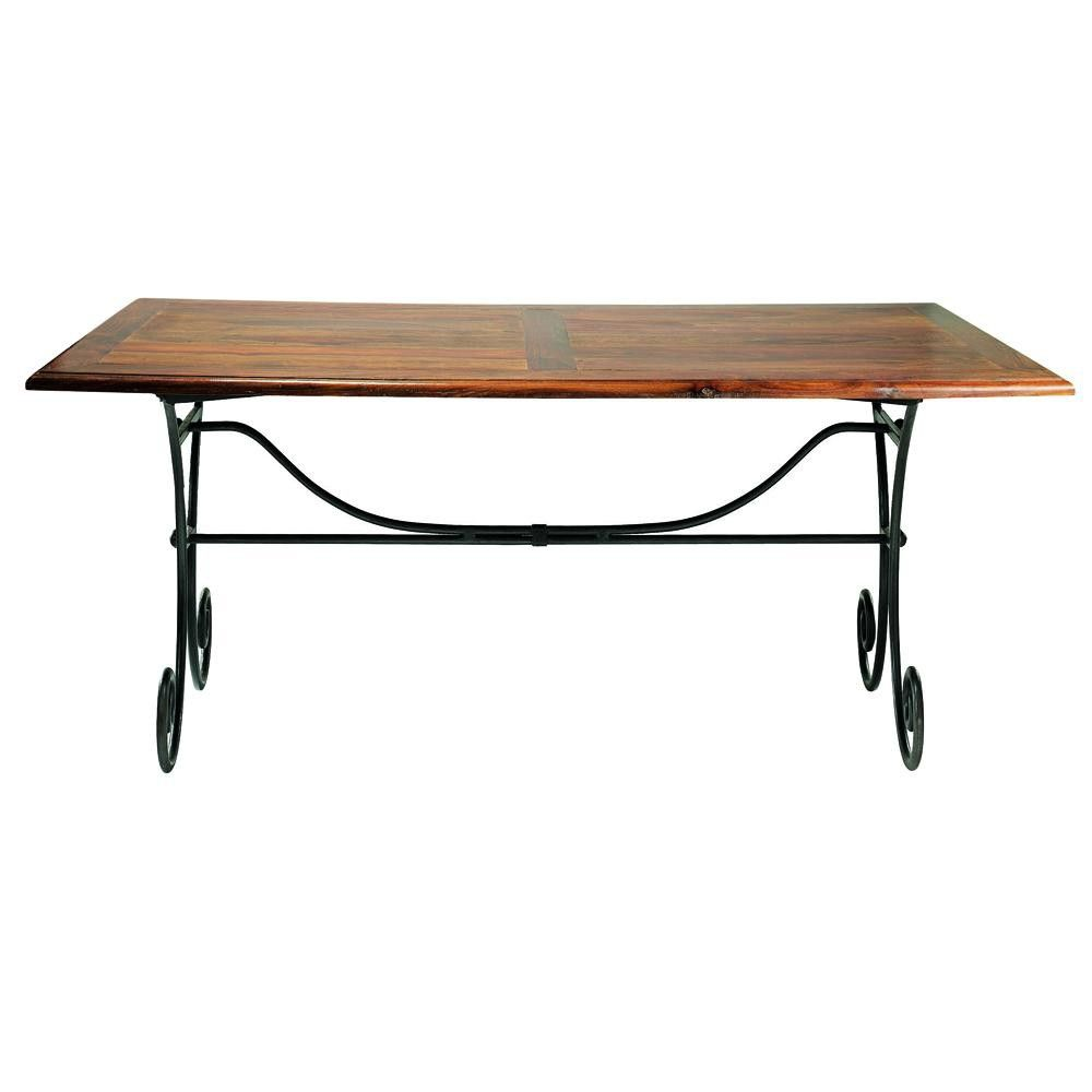 Table Fer Forgé Bois Tables Et Bars Salon Dining Table Table Et Dining
