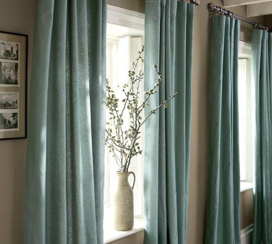 Angled With Deep Windowsill Curtains Living Room Beautiful