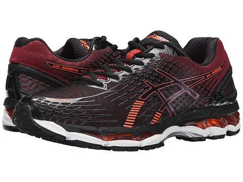 ASICS GEL-Nimbus® 17 Black/Hot Orange/Deep Ruby - Zappos.