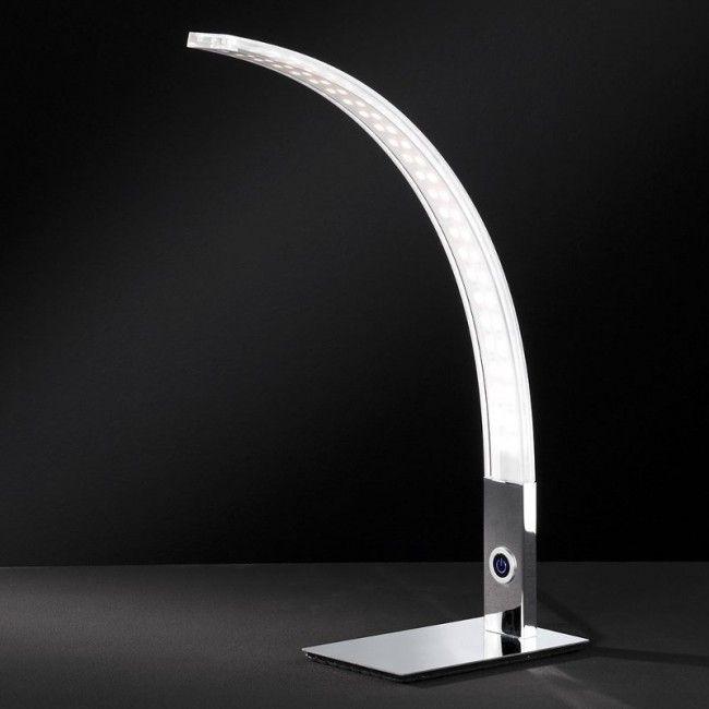 LUZ 682 LED TABLE LAMP IN CHROME - WOFI
