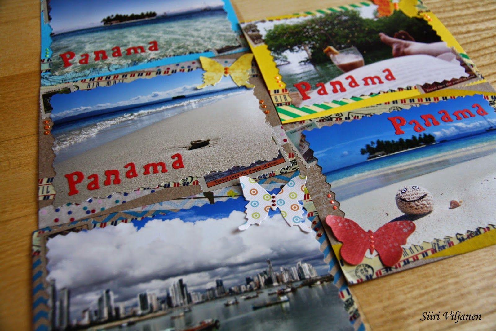 Käsitöitä flamencohame hulmuten * Siiri Viljanen - Panama tourist cards